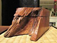 Vintage Michael Elkan Style Wood Live Edge Trinket Box Mid-Century