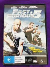 Fast & Furious 5 DVD Bonus Features Region 4 - 2010 Universal- Made in Australia