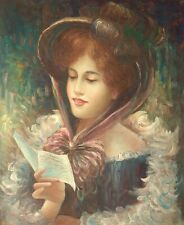 More details for young lady with a letter, 24