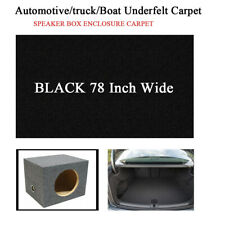 Automotive Carpet Trunk Liner Upholstery Underlay Replacement  Black 78