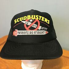Vintage Scudbuster Patriots Do It Ridgt Snapback Trucker Hat Cap EUC Missiles