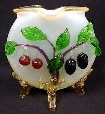 Vintage Antique Stevens And Williams Matsu-Noke Art Glass Vase