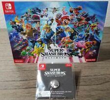 Super Smash Bros Ultimate Pin & Panoramic Mini Poster Nintendo Switch Promo Swag