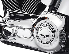Harley Davidson Willie G. Skull Derby Cover. Chrome. Softail and Dyna. 25441-04a