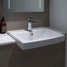 Tavistock Vibe Semi-Recessed Ceramic Modern Basin Sink One Tap Hole 550mm
