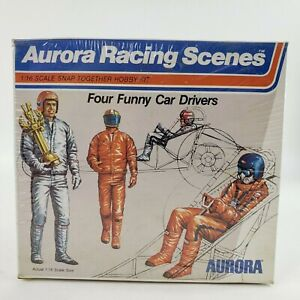 1973 Aurora Racing Scenes Four Funny Car Drivers 1:16 Model Kit # 841 SEALED NEW