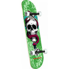 "Powell Peralta Skateboard Complete Skull and Snake Green 7.75"" x 31.08"""