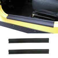 Pair Side ABS Scuff Plate Door Sill Entry Guard Trim Fit Jeep Wrangler 97-06 TJ
