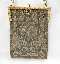 VINTAGE - French-Style Steel-Cut Seed Bead Purse