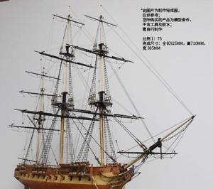 HMS Surprise Scale 1:75 925mm 36.4'' Wooden Model Ship Kit Model Sailboat DIY