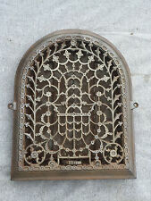 Antique Cast Iron Arch Top Decorative Dome Heat Grate Wall Register 9x12 1452-16