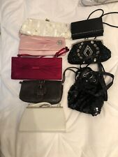 JOB LOT OF 8 CLUTCH EVENING BAGS VARIOUS COLOURS SEE PICS