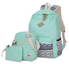 Veenajo Casual Lightweight Canvas Backpacks Cute Dot Bookbag Shoulder Bag School