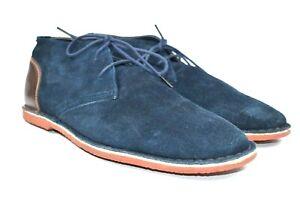Joseph Abboud Men's Blue Suede Leather Chukka Boots Size 11