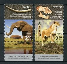 Israel 2018 MNH Archeozoology in Eretz Lions Elephants 2v Set Animals Stamps