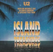 U2 Rare OOP US CDS Island treasures NM '90 3 TRK 11 O'clock tick tock (Live)