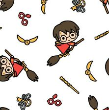 Harry Potter Cartoon 100% Cotton Fabric Material BY HALF METRE
