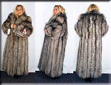 New Silver Fox Fur Coat Size Large 10 12 L Efurs4less