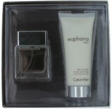Euphoria by Calvin Klein for Men Gift Set-EDT Spray 1oz + Aftershave Balm 3.4oz