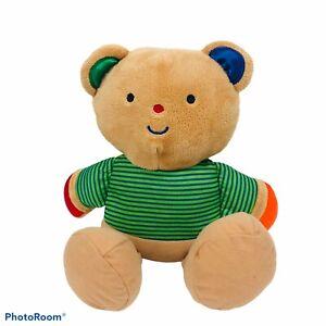 "MELISSA & DOUG Teddy Bear Plush Beautiful Multi Color Measures 13"" Length CLEAN!"