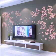 Wandtattoo Blumen Baum Herz pink rosa Blume Sticker Kinderzimmer Wohnzimmer