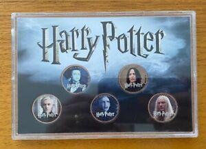 Harry Potter Half Penny British Coin Set - Set of 5 Coins - Villains