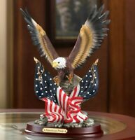 """Patriotic American Eagle Statue Sculpture """"For The USA""""  FREE SHIPPING"""