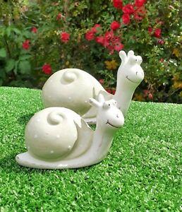 Cute Ceramic Garden Snails . Garden Ornament.