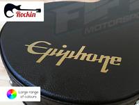 Epiphone Guitar Hard Case Decal Sticker Gold High Quality Vinyl Gibson