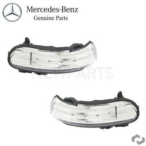For Mercedes-Benz R171 R230 Set of 2 Door Mirror Turn Signal Lights Genuine