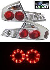 LED Tail Lights CHROME Housing by DEPO Fits 2005-2006 Infiniti G35 G-35 SEDAN 4D