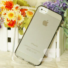 Apple iPhone 5 5g 5s Transparent Ultra Slim Tpu Silicone Gel Case Cover New