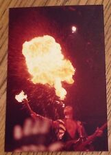 KISS Gene Simmons close up Fire Breathing Action Animalize Tour 3 x 5 photo