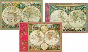 Caspari Boxed Note Cards, World Maps, Box of 8 (62603.46)