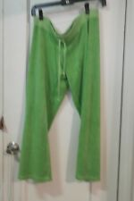 JUICY COUTURE Women's GREEN Crop Pants Size M USA