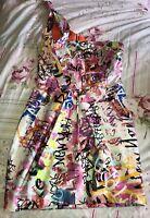 Ladies L'Art By River Island Dress Size 10 Graffiti Urban
