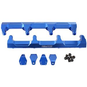 AEROFLOW Billet EFI Fuel Rails - Blue Suit GM LSA Supercharged AF64-2124