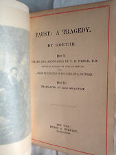 Faust: A Tragedy by Goethe (1888, Hardcover)
