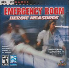 EMERGENCY ROOM Heroic Measures - Paramedic Hospital Medical Sim PC/MAC Game NEW