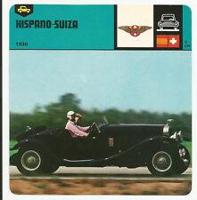 1978 Edito-Service Auto Rally Hispano-Suiza Card