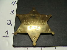 vintage kids metal MARSHAL badge---#2