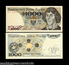 POLAND 1000 ZLOTYCH P146 1982 BUNDLE COPERNICUS UNC CURRENCY NOTE PACK 100 BILLS