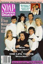 One Life to Live, Joe Lando, Allison Hossack - May 15, 1990 Soap Opera Digest