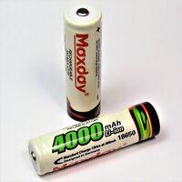 2 x MAXDAY / 4000 mAh  Lithium Ionen Akku 3,7 V / Typ 18650 Li  - ion