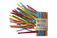 50 ASSORTED POLKA DOT TWIST TIES For Cone Bags Cello And Cellophane Bags