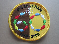 9th East Ham 60 Years Girl Guides Cloth Patch Badge (L3K)