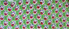 Fabric Sanganeri Running 3 Yard Indian Hand Block Print Pure Cotton New Green