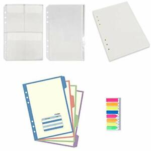 A5 6-Ring Binder/Planner Inserts and Accessories for Filofax 100 Sheets Dotte...