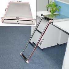 Stainless Steel 3 step Concealed Box Telescopic Ladder For Boat Marine Pretty US