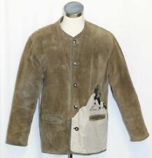 "LEATHER Sport JACKET Over Coat Men GERMAN Hunting Shooting BROWN Eu 52 C46"" XL"